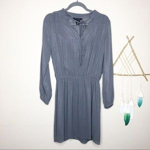 WHBM | Grey Silver Thread Dress